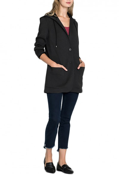 Nic+Zoe - Women's Get Going Graphite Jacket - Graphite Heathe