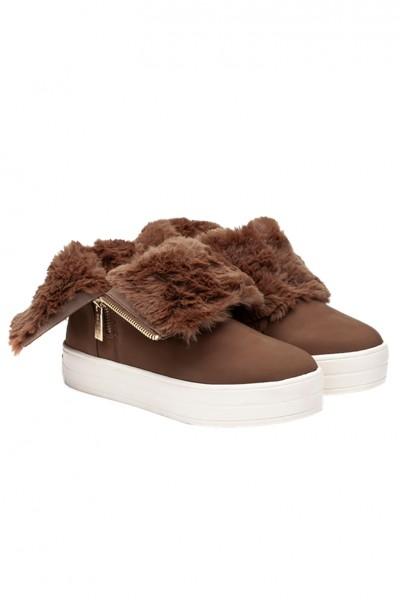 J Slides - Women's Henley Boots - Tan Nubuck