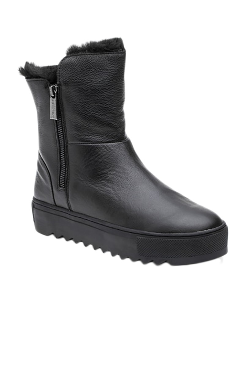 J Slides - Women's Selene Boots - Black Leather