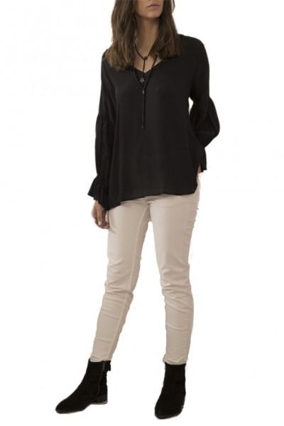 Sack's - Women's Iris V Neck Raglan Blouse - Black