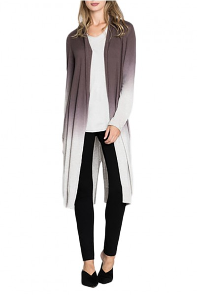 Nic+Zoe - Women's Traveler Ombre Duster Cardigan - Plum