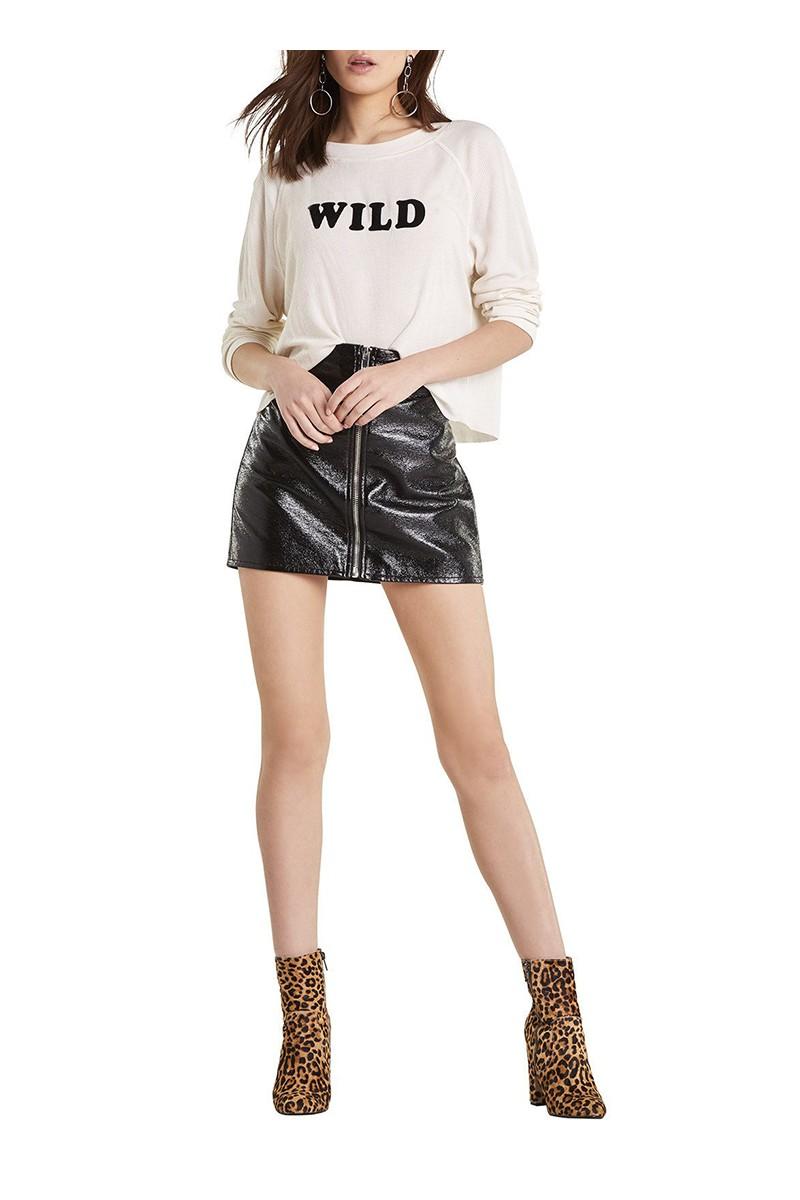 Wildfox - Women's Wild Fox Monte Crop Sweatshirt - Vintage Lace