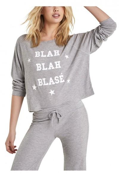 Wildfox - Women's Blah Blah Blase Monte Crop Sweatshirt - Heather