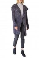 Mystree - Women's Drape Neck Rib Cardi - Char