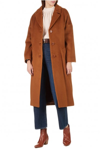Tara Jarmon - Women's Oversized coat - Noisette