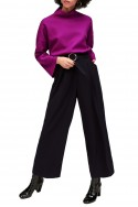 Tara Jarmon - Women's Wide Leg Pants - Noir Black