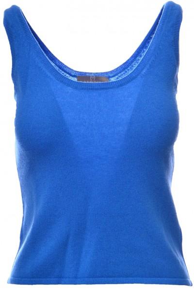 Brodie - Women's Cashmere Camisole Vest Tee - Chalk Blue