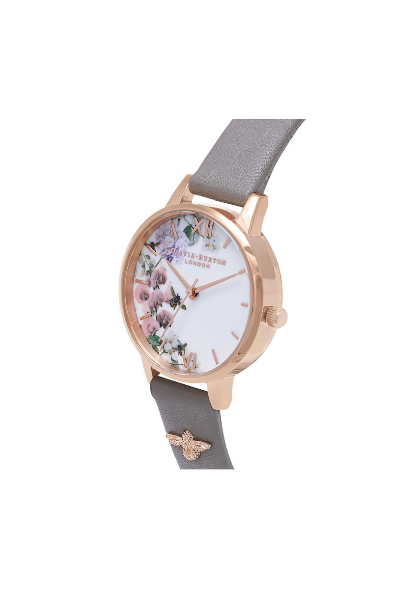 b41a1fbcb9f9 Olivia Burton - Women s Enchanted Garden Watch - London Grey Rose Gold