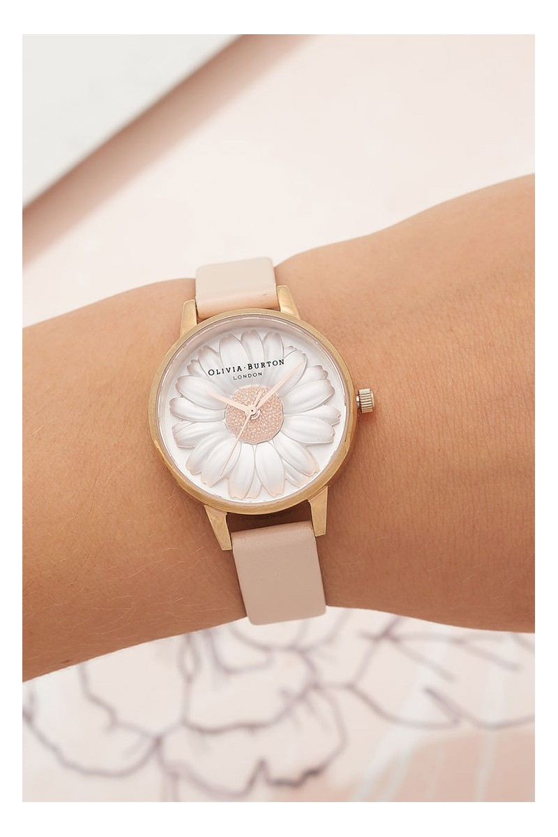 d633a0c12fb3 Olivia Burton - Women s 3D Daisy Watch - Nude Peach Rose Gold