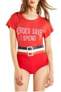 Wildfox - Women's I Spend No9 Tee - Red