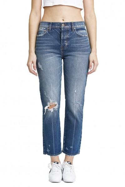 Pistola - Women's Charlie High Rise Straight Leg Jean - Superstitious