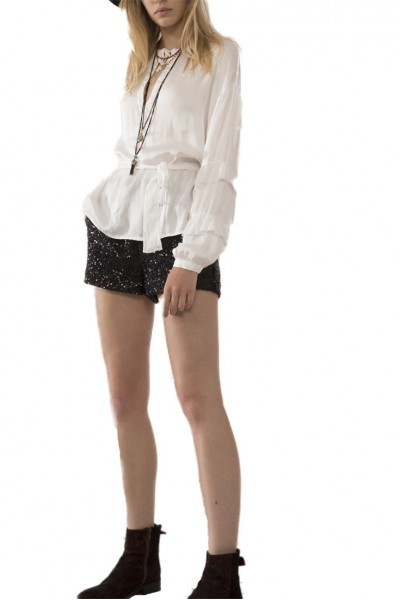 Sack's - Women's Joy Ruffled Flare Sleeve Blouse - Natural