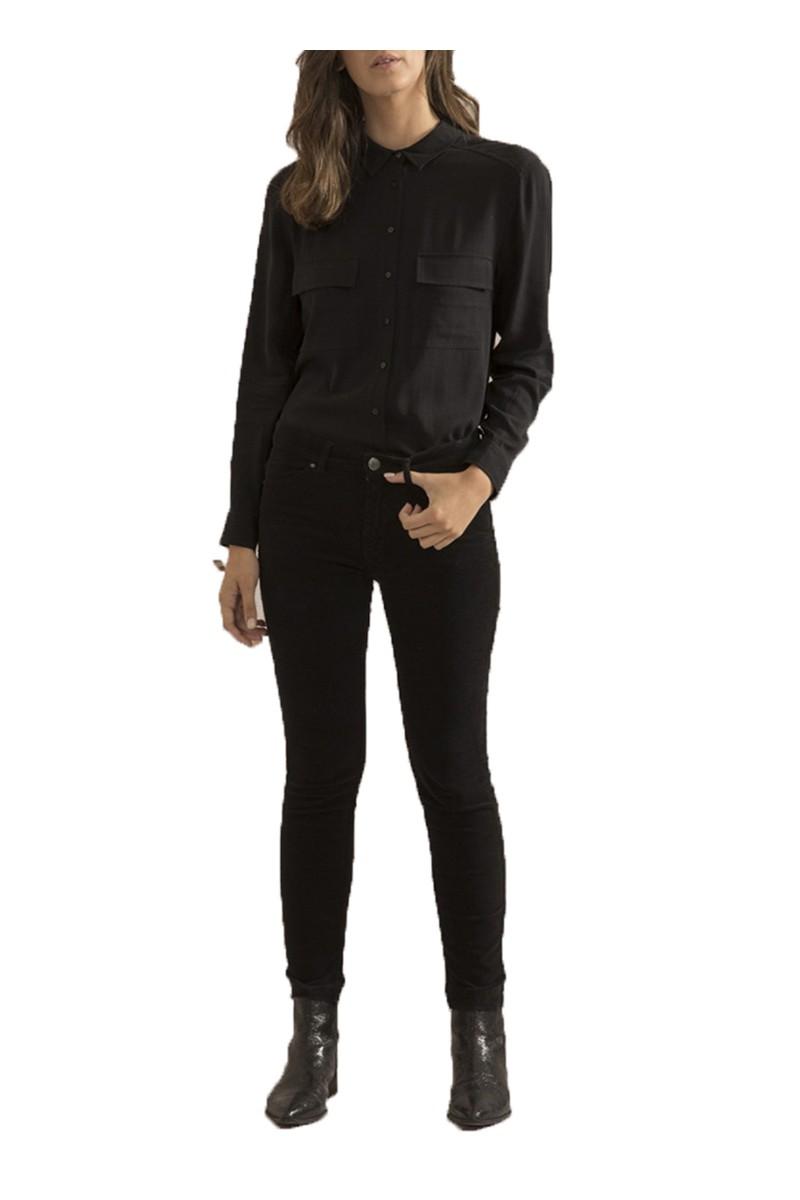 Sack's - Women's Bellboy 5 Pocket Velvet Pants- Black