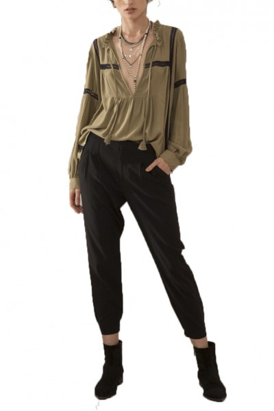 Sack's - Women's Rally Tuck Cigar Lag Pants - Black