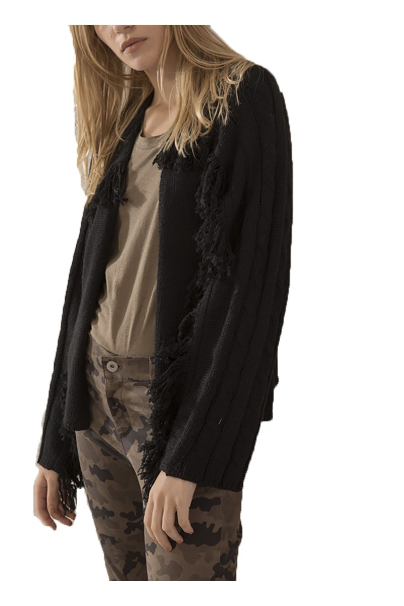 Sack's - Women's Melanie Fringes Knit Cardigan - Black
