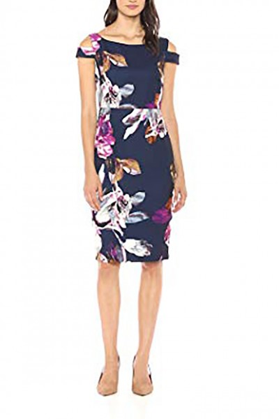 Trina Turk - Women's Adley Boatneck Midi Dress - Multi