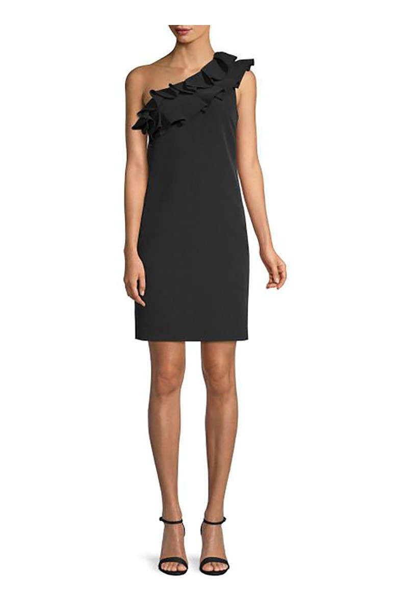 Trina Turk - Women's La Cruz Ruffle Sheath Dress - Black