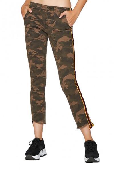 Pam & Gela - Women's H 18 Camo Side Stripe Step Hem Pant - Army