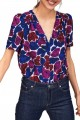 Tara Jarmon - Women's Leaf Print Top - Multi