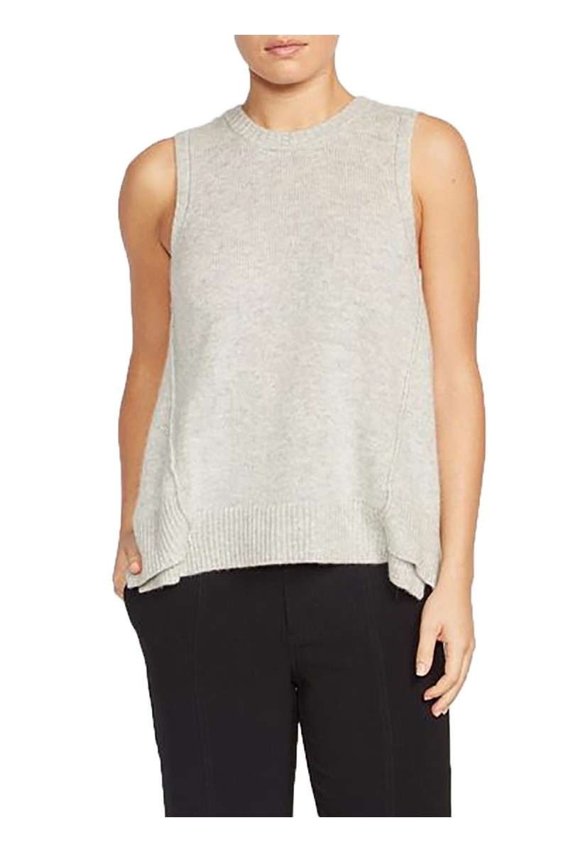 Brochu Walker - Women's Aimi Crossback Looker Sweater - Argent Grey Melange