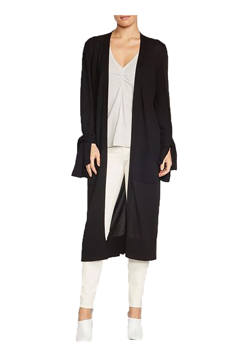 Brochu Walker - Women's Albian Tie Duster Cardigan - Black Onyx
