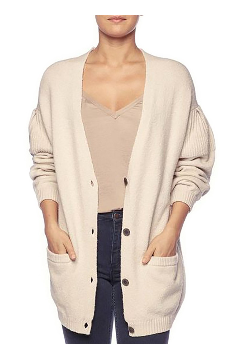 Brochu Walker - Women's Nuria Cardigan - Sand Dollar