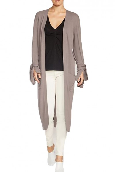Brochu Walker - Women's Albian Tie Duster Cardigan - Covert Grey