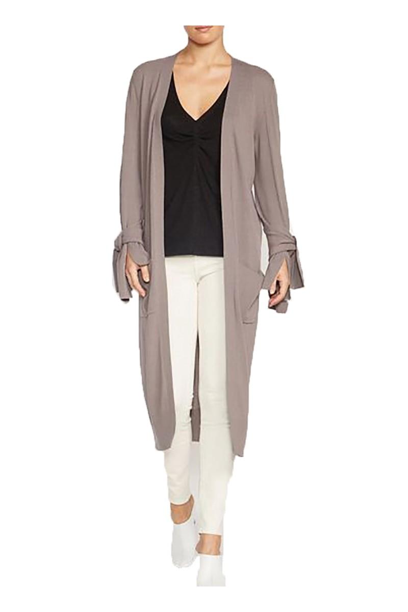 Brochu Walker - Women's Albian Tie Duster Cardigan - Covert Grey