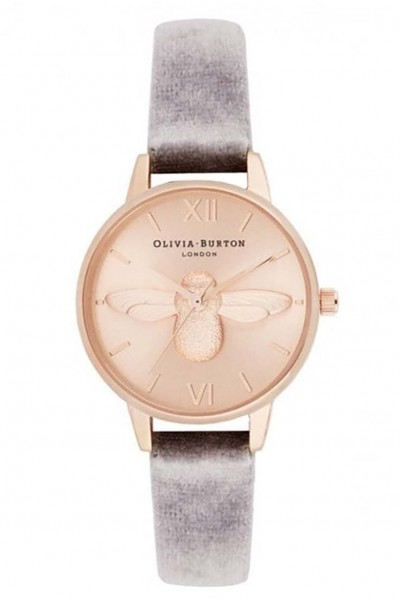Olivia Burton - Women's 3D Bee Midi Dial Watch With Velvet - Rose Gold Sunray