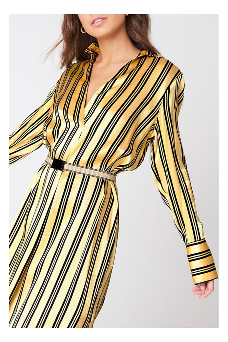 423735f2d04 By Malene Birger - Women's Kuba Dress - Gold Black
