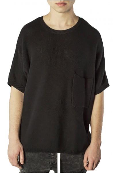 Kollar - Men's Heavy Knit Tee - Black