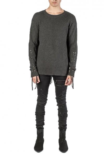 Kollar - Men's Knit Crewneck Sweater - Black