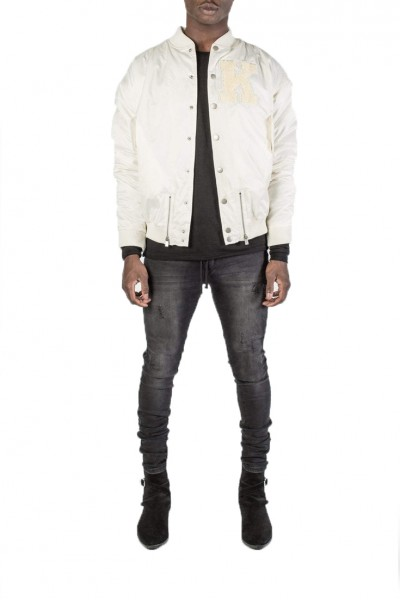 Kollar - Men's Collegiate Bomber - Off White
