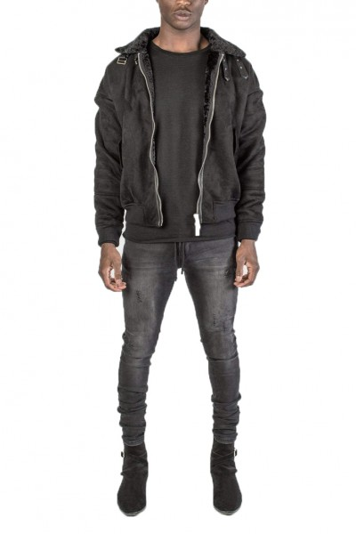 Kollar - Men's Aviator Bomber - Black