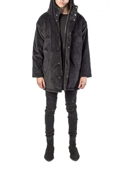Kollar - Men's Longline Corduroy Jacket - Black