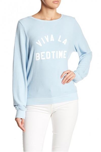 Wildfox - Women's Viva La Bedtime Baggy Beach Sweater - Blue Skies