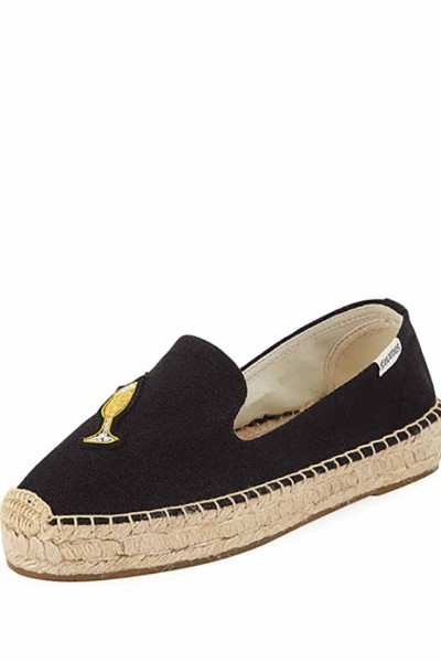Soludos - Women's Cheers Smoking Slipper - Marine Black