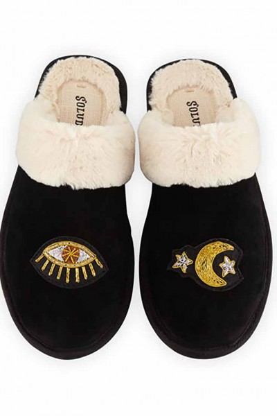 Soludos - Women's Celestial Cozy Slipper - Marine Black