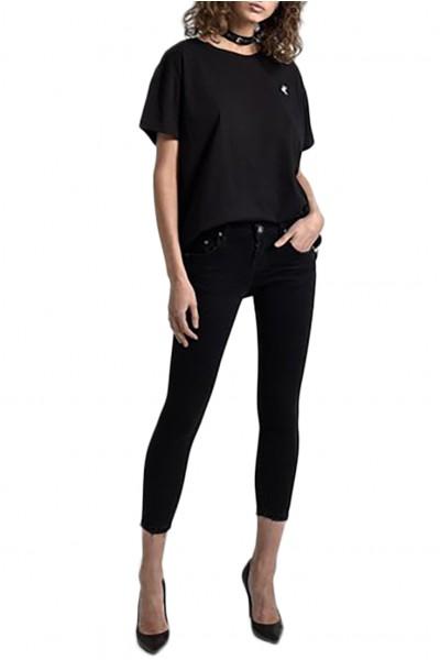 One Teaspoon - Women's Freebirds II Low Waist Skinny Fit Stretch Jean - Black Punk