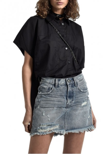 One Teaspoon - Women's 2020 Mini High Waist Super Slim Denim Skirt - Rocky