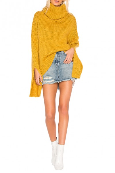 One Teaspoon - Women's Winona Keyhole Sweater - Mustard
