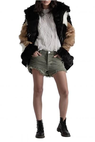One Teaspoon - Women's Le Wolves Mid Length Short - Super Khaki