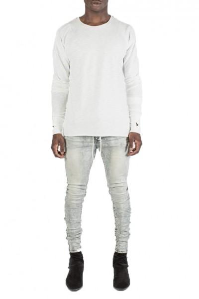 Kollar - Men's Concave Layer Longsleeve Sweater - White