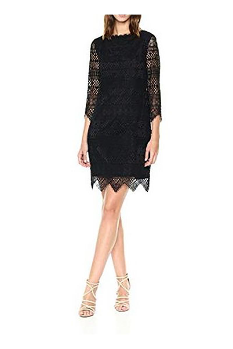 Trina Turk - FA18 - Women's Geddes Blackbird Stripe Lace Dress - Black
