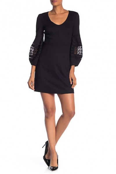 Trina Turk - Women's Gianna Blouson Sleeve Dress - Black