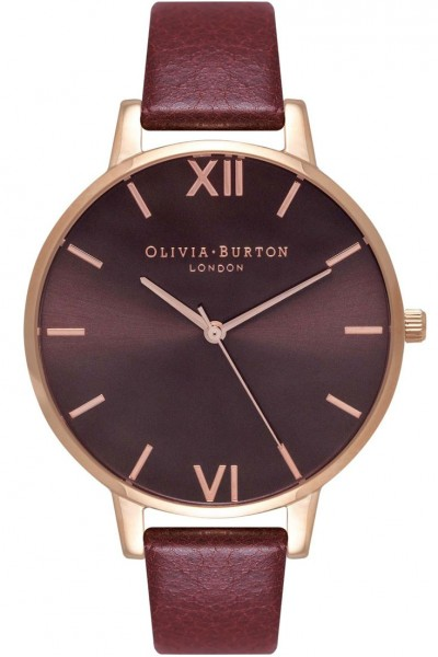 Olivia Burton - Women's Chocolate Dial Watch - Burgundy Rose Gold