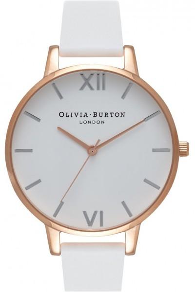 Olivia Burton - Women's Dial Big Dial Watch - Rose Gold White Silver