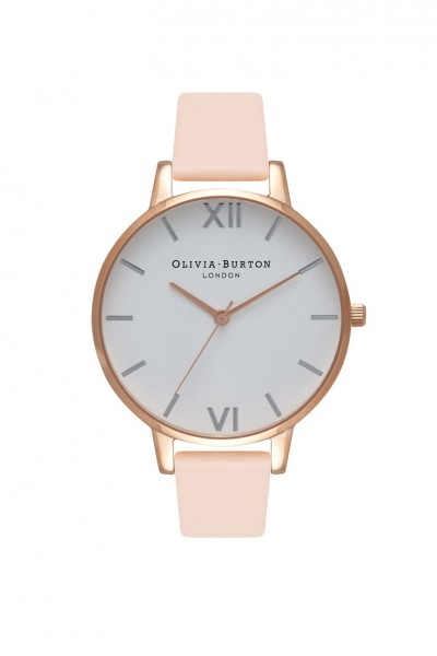 Olivia Burton - Women's Big Dia Watch - Nude Peach Rose Gold Silver