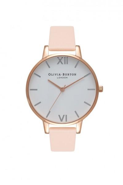 Olivia Burton - Women's Big Dia Watch - Nude Peach Rose Gold Silver