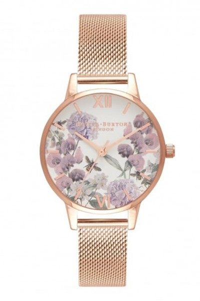 Olivia Burton - Women's Enchanted Garden Watch - Rose Gold
